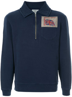 zipped neck sweatshirt  Kent & Curwen
