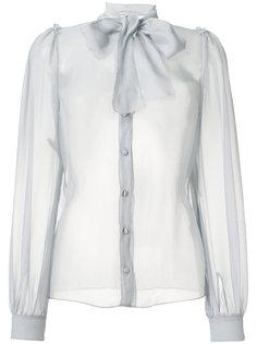 полупрозрачная блузка с бантом  Dolce & Gabbana