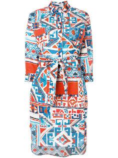 платье-рубашка с принтом  Sara Roka