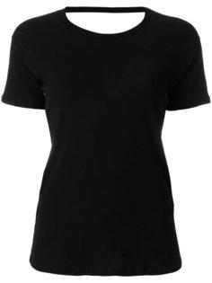 футболка с открытой спиной Semicouture