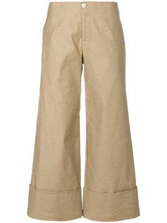 широкие укороченные брюки  Steffen Schraut