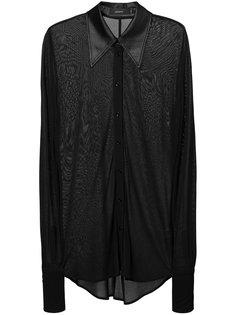 полупрозрачная рубашка с сатиновым воротником Joseph