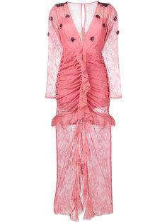 приталенное вечернее платье с V-образным вырезом For Love And Lemons
