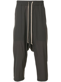 укороченные спортивные брюки с заниженным шаговым швом Rick Owens