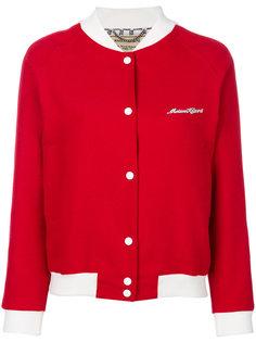 куртка-бомбер с логотипом Maison Kitsuné