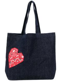 джинсовая сумка-тоут с сердцем Maison Kitsuné