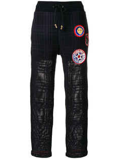 patched tartan joggers Mr & Mrs Italy