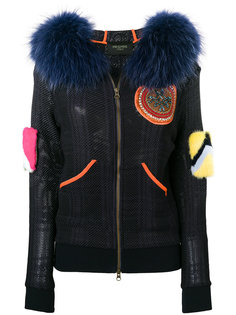 куртка-бомбер с меховыми деталями Mr & Mrs Italy