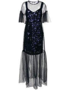 многослойное платье миди Blumarine