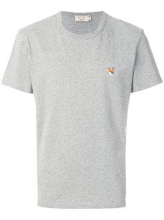 футболка с вышивкой лисы Maison Kitsuné