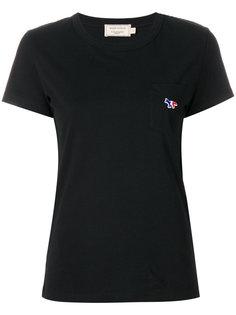 футболка с карманом и трехцветным узором  Maison Kitsuné