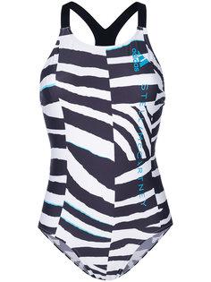 купальник с зебровым принтом Adidas By Stella Mccartney