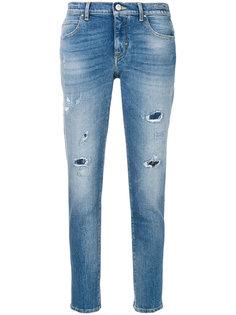 укороченные джинсы с потертой отделкой Jacob Cohen
