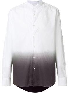 рубашка с воротником-стойкой и градиентным принтом Ann Demeulemeester Grise