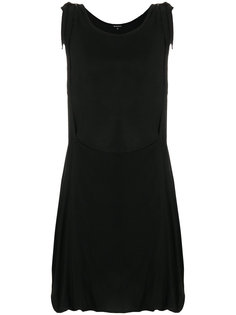 асимметричное платье с драпировкой  Ann Demeulemeester Blanche
