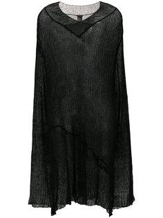 длинный полупрозрачный свитер  Ann Demeulemeester Blanche