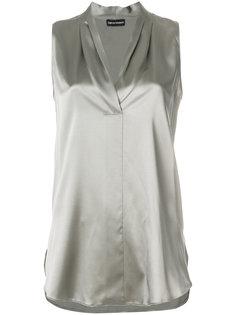 блузка с плиссировкой  Emporio Armani