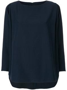 блузка с плиссировкой на рукавах  Emporio Armani