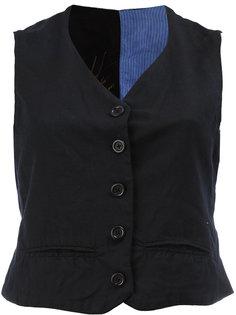 brocade print back cropped waistcoat Geoffrey B. Small