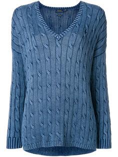 вязаный свитер с V-образным вырезом Polo Ralph Lauren