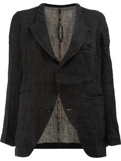 пиджак в тонкую полоску с вышивкой Geoffrey B. Small