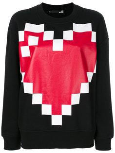 толстовка с принтом пиксельного сердца Love Moschino