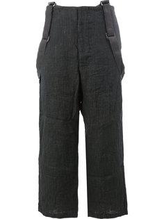 укороченные широкие брюки на подтяжках Geoffrey B. Small