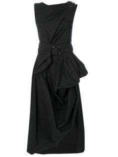 асимметричное платье с драпировкой Isa Arfen