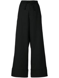 широкие брюки с боковыми вставками Perfect Palace Société Anonyme