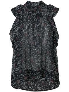 блузка с высоким воротом и оборками Ulla Johnson