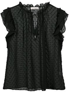 полупрозрачная блузка с узором в мушку Ulla Johnson