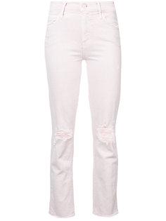 рваные облегающие джинсы Mother