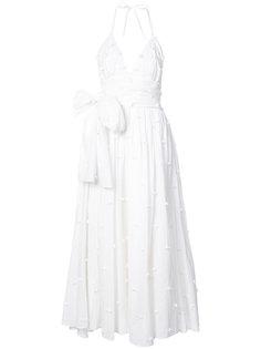 платье с цветочной аппликацией Rosie Assoulin