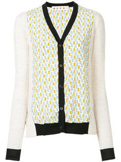 v-neck patterned cardigan Marni
