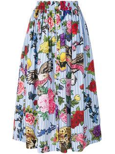 пышная юбка миди с цветочным принтом Philipp Plein