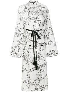 двубортное пальто с цветочным узором Ann Demeulemeester