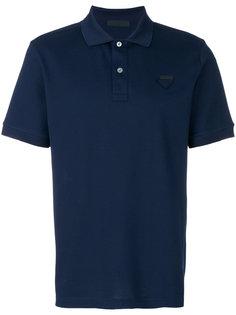 футболка-поло вязки пике Prada