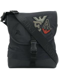 сумка на плечо с аппликацией логотипа Emporio Armani