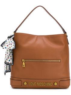 сумка-тоут с логотипом Love Moschino