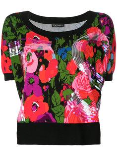 футболка с цветочным принтом  Twin-Set