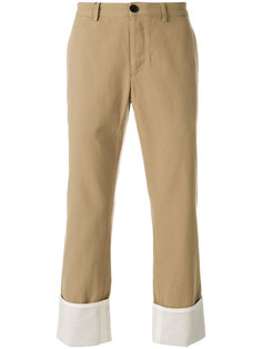брюки-чинос с подвернутыми манжетами Loewe