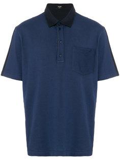 рубашка-поло с контрастными деталями Fendi
