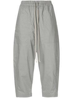 укороченные брюки со шнурком  Rick Owens DRKSHDW