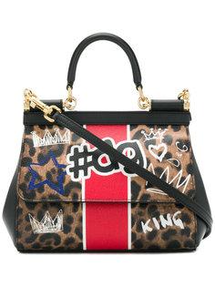 маленькая сумка Sicily с леопардовым принтом Dolce & Gabbana