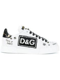 кроссовки Portofino с аппликацией  Dolce & Gabbana