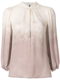 приталенная блузка с градиентным принтом Raquel Allegra