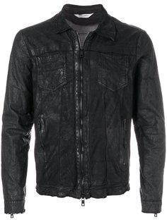 кожаная куртка с мятым эффектом Giorgio Brato