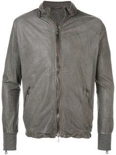 байкерская куртка с манжетами с ребристой фактурой Giorgio Brato