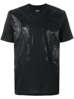 футболка с драконами Les Hommes