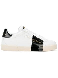 кроссовки с контрастной полосой Dolce & Gabbana